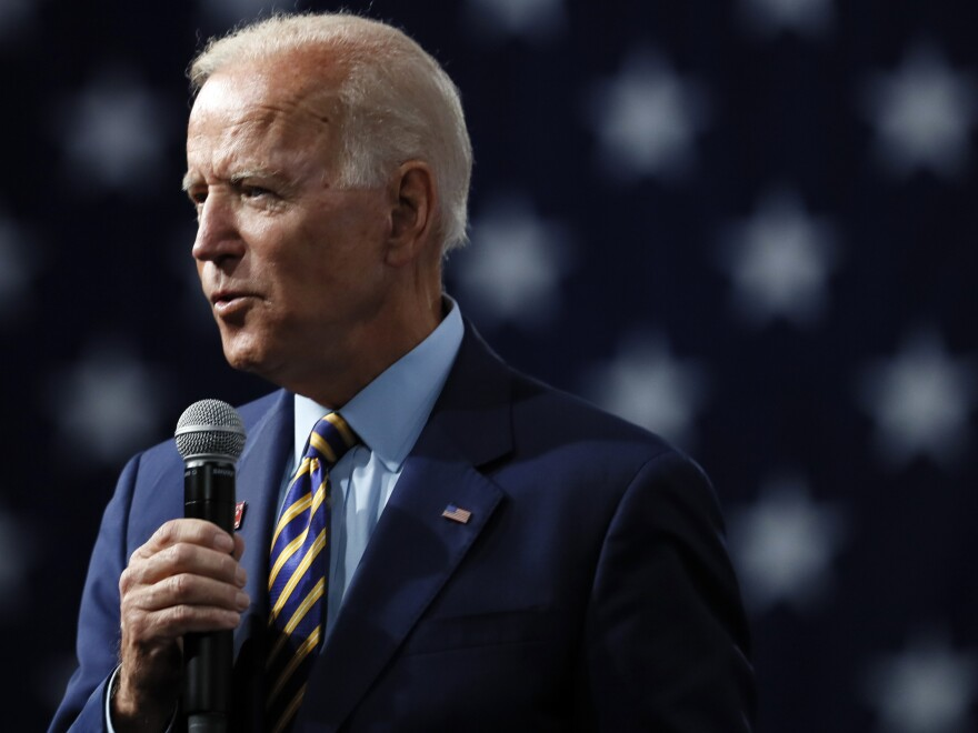Former Vice President Joe Biden says if he's elected, he'd support a new ban on assault weapons, along with a buyback program.
