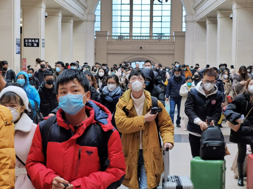The Hankou Railway Station in Wuhan on Jan. 22.