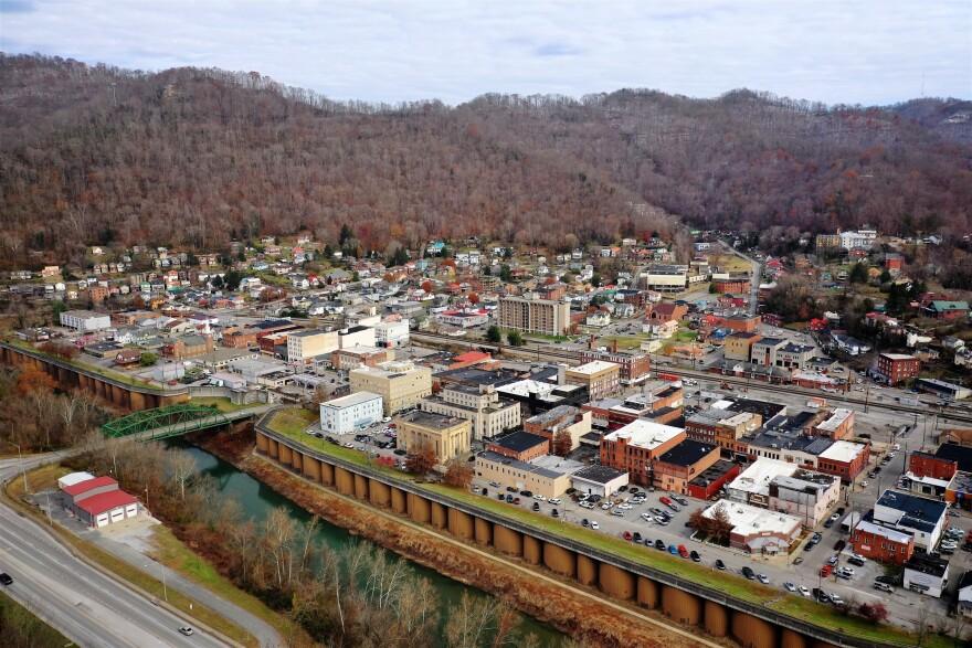 Williamson, W.Va., seen across the border from Kentucky.