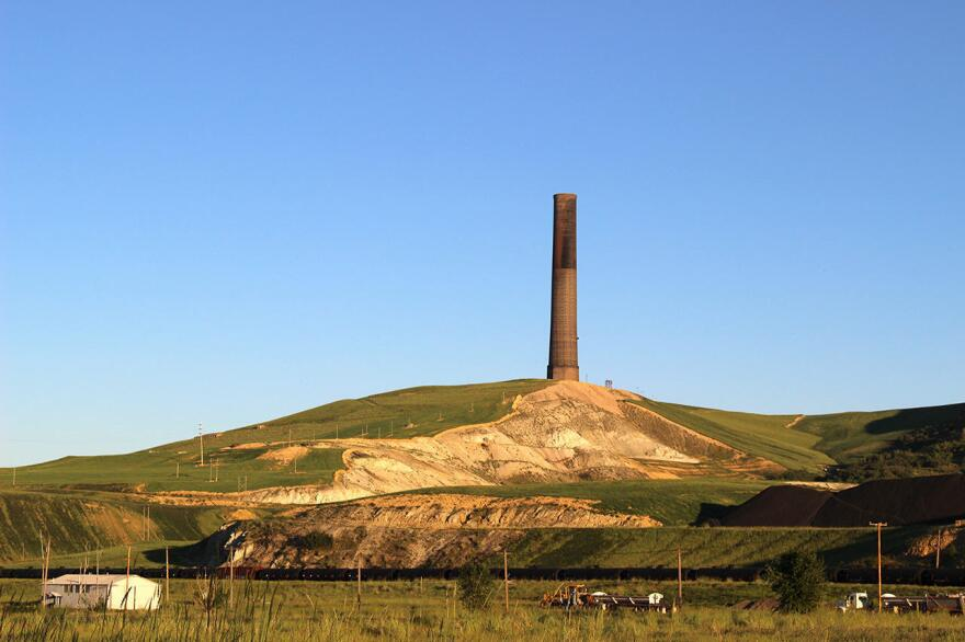 This smokestack, left over from a century of copper mining, spewed up to 24 tons of arsenic per day over an area the size of New York City.