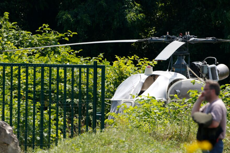 A helicopter believed to have been used by French convict Redoine Faid was recovered outside Paris.