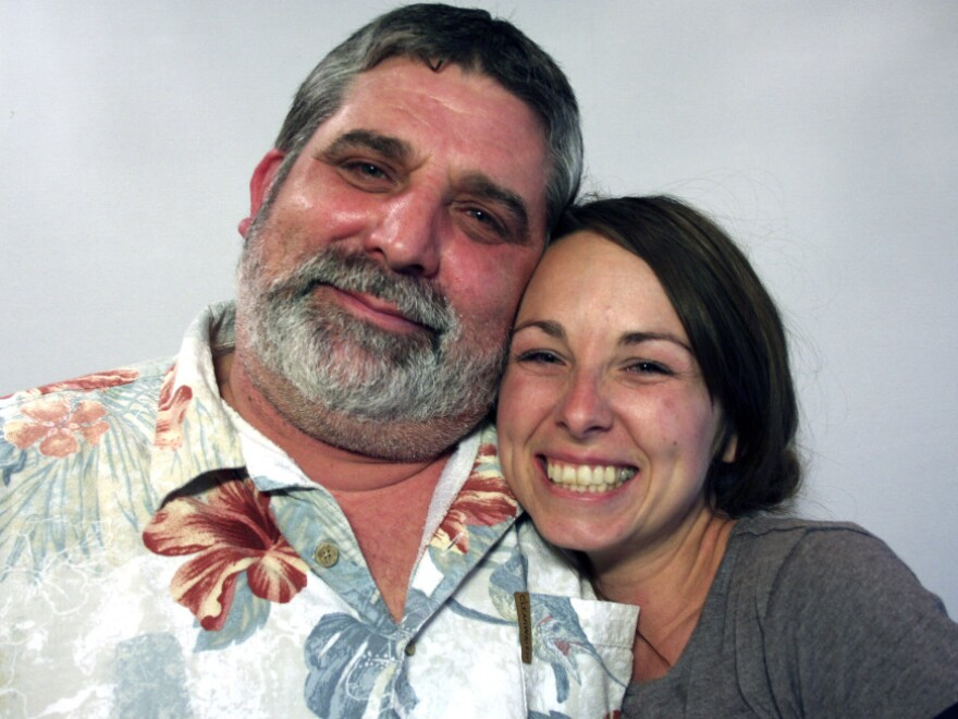 Steven Wells and his daughter, Jennifer, spoke about her childhood at StoryCorps in Macon, Ga., where they have been living since 1996.