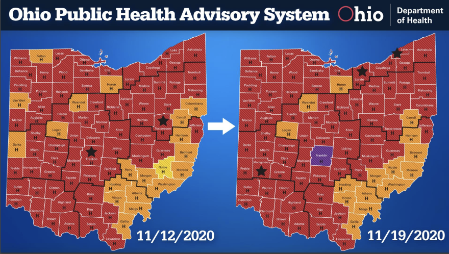 Ohio Alert Map 11-19-20