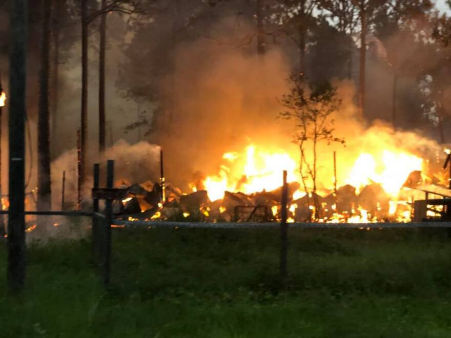 A wildfire in Franklin County burns more than 800 acres.