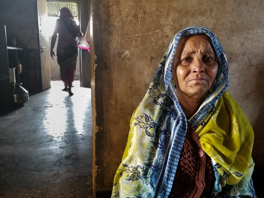 Irabai Jadhav, 60, is the matriarch of a family of onion farmers in Maharashtra. Her eldest son killed himself in late November. He had been about $40,000 in debt. Jadhav's husband died of a heart attack 12 days later. Now she is left with all their bills.