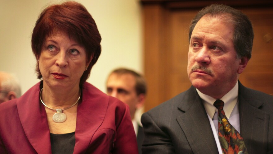 Victoria Toensing, left, and Joe diGenova, photographed in 2007, were set to join President Trump's outside legal team, but it was announced just days later that conflicts prevented them.
