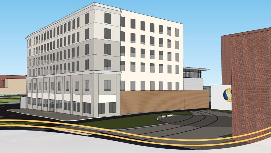 a photo of the rendering fo the new Smith's headquarters