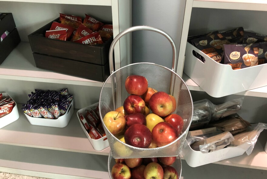 In the lobby of San Antonio  College's Student Advocacy Center students can grab a snack if they're hungry, no questions asked. The center was moved to its own building in fall 2018.
