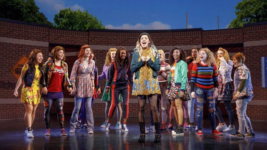 Though the musical <em>Mean Girls </em>is nominated for a dozen Tony Awards, no Tonys are given to Broadway choruses. Kamille Upshaw is pictured in the bright green jacket, right of center.