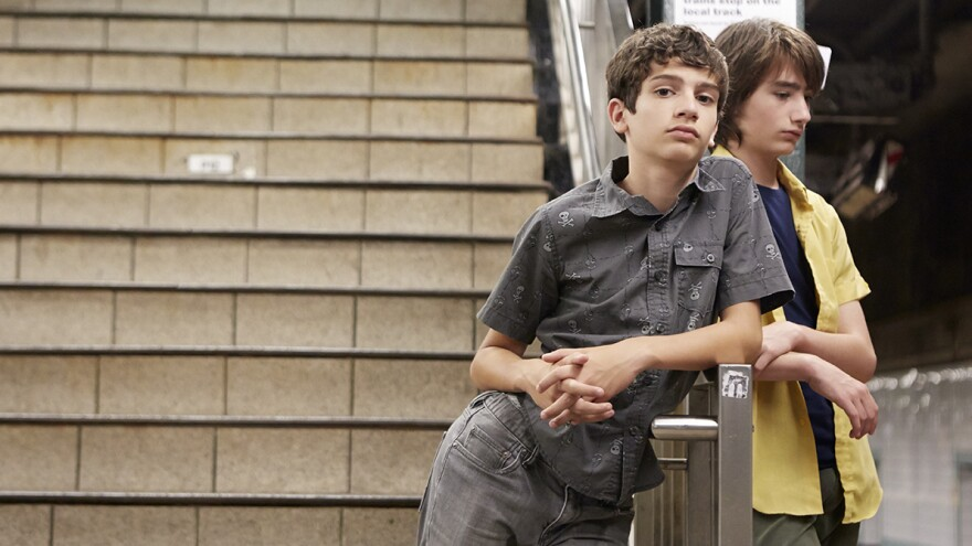 Tony (Michael Barbieri) and Jake (Theo Taplitz) are natural and relaxed together in <em>Little Men.</em>