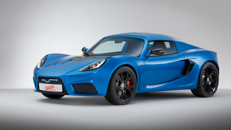 """This image provided by Detroit Electric shows the automaker's SP:01, a limited-edition electric sports car. The company was revived in 2008. <a href=""""http://www.detroitnews.com/article/20130601/AUTO01/306010006/1148/Detroit-Electric-delays-its-first-EV-by-month"""">Last month it announced</a> that production would be delayed by a month. The model is priced at $135,000."""