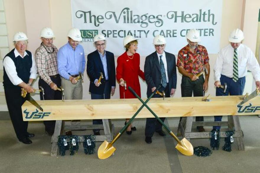 Officials of USF Health & The Villages Health primary care network at the 2013 groundbreaking of USF Health Specialty Care Center.
