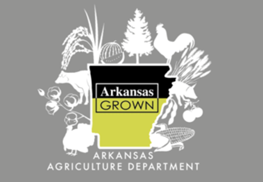 This was designed by Anna Chaplain of Harrisburg.  The Arkansas Agriculture Department will use this design for its Arkansas Grown program.