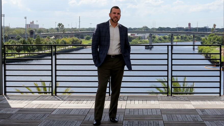 Dave Loos, 34, works in contract furniture sales in Tampa. After supporting Marco Rubio in the primary, Loos is now a Trump fan. While he likes Trump's business acumen and the strength he projects, he finds the tone of the election frustrating.