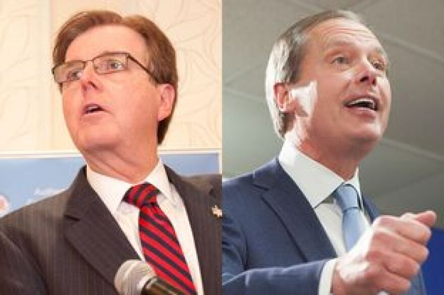 State Sen. Dan Patrick, left, and Lt. Governor David Dewhurst, right, are competing in a May 27 runoff election.