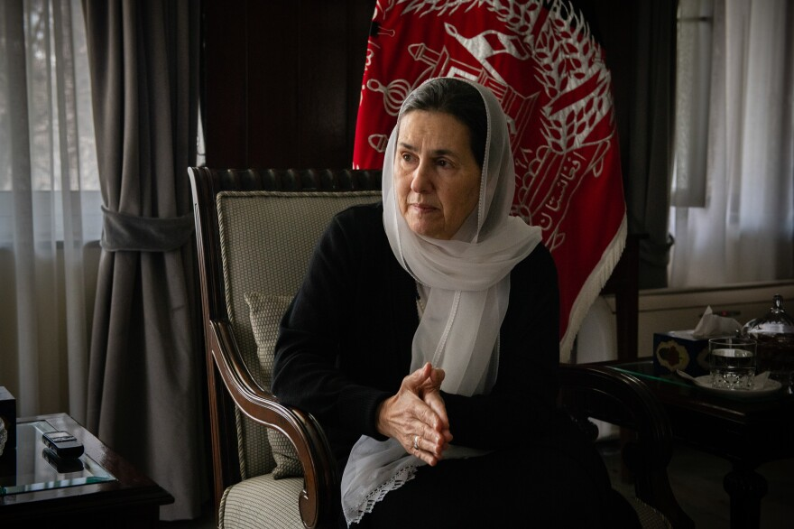 First lady Rula Ghani at the Presidential Palace in Kabul, Afghanistan. Earlier this year, she helped free more than 190 Afghan women and girls imprisoned for failing the virginity test after reproductive rights activist Farhad Javid brought it to her attention in October.