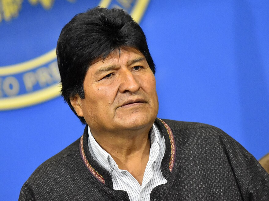 Evo Morales said on Sunday that he would resign, but characterized the events as a coup.