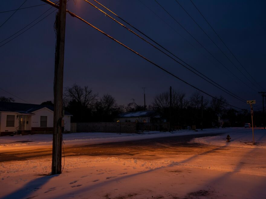 Snow covers the ground in Waco, Texas, on Feb. 17. Texas Gov. Greg Abbott has blamed renewable energy sources for the blackouts that have hit the state. In fact, they were caused by a systemwide failure across all energy sources.