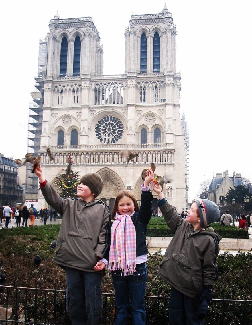 """Christmas time in 2004. We had spent the fall semester in Cambridge, England while my husband was on sabbatical. He's a professor at Calvin College. We found some last minute deals for the ferry from Dover to Calais and decided to spend a few days in Paris before our return to Grand Rapids."""