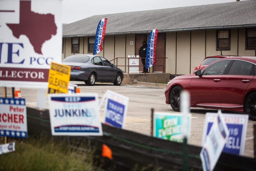 Hays County residents vote early in Kyle on Oct. 26.