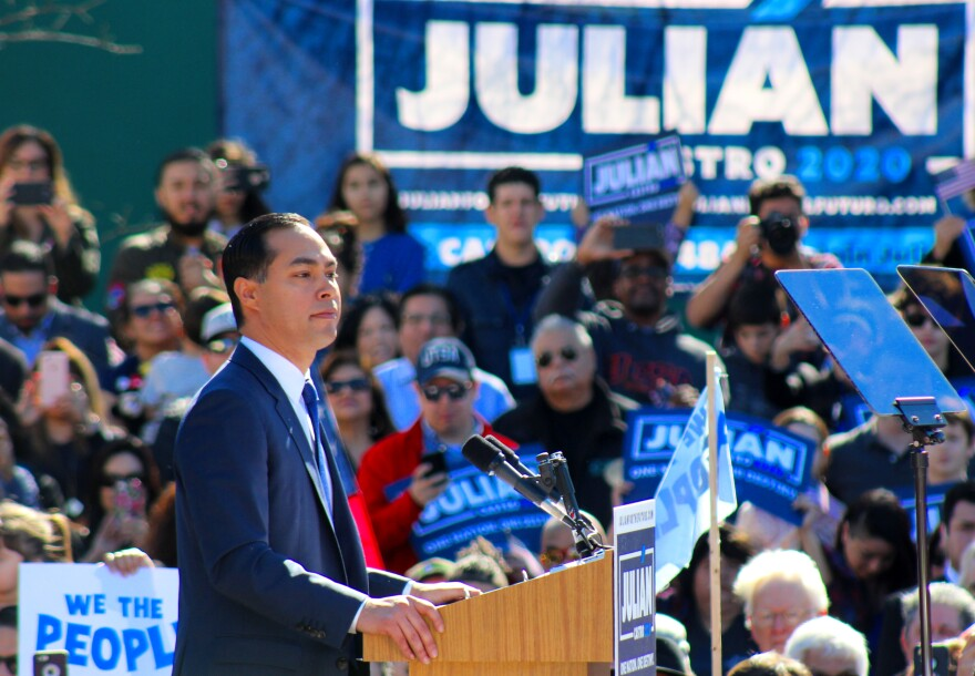 Julián Castro speaking in January, 2019.
