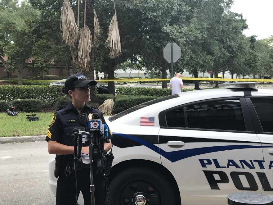 "Plantation Police Sgt. Jessica Ryan asked residents to stay away from the area, as it's still considered ""an active scene."""