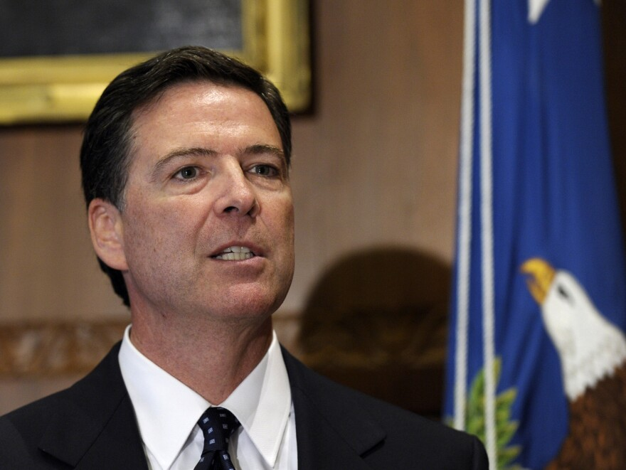 FBI Director James Comey is pictured earlier this month during his swearing-in ceremony at the Justice Department in Washington, D.C.
