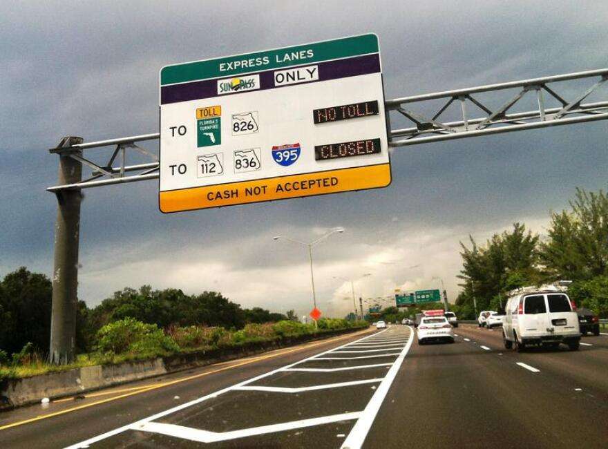 picture of sign on florida toll road