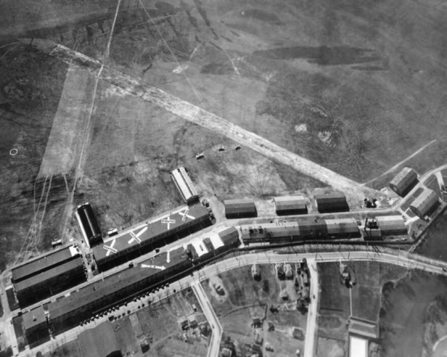 An aerial view of McCook Field in Dayton