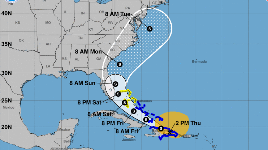 Isaias is predicted to shadow Florida's Atlantic coast and could cause heavy flooding along the U.S. Southeastern coast.