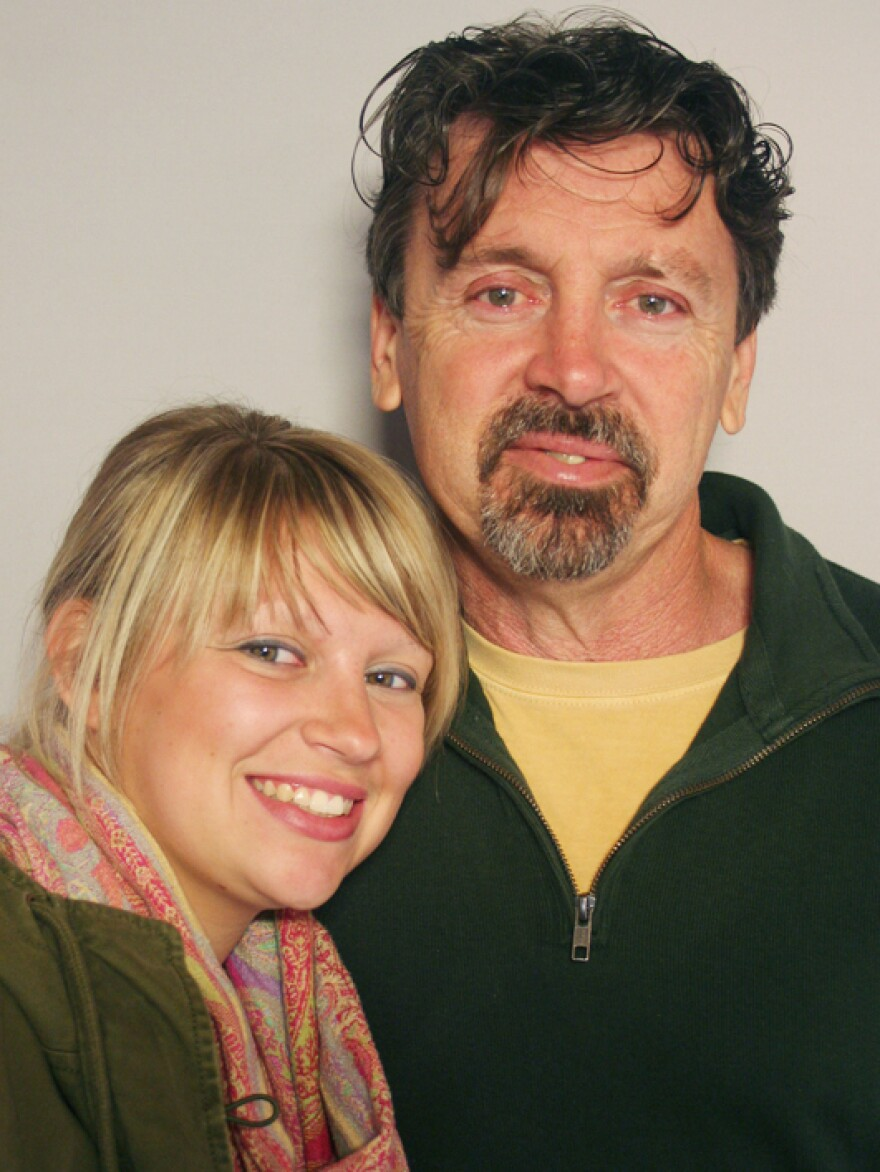 Jack Richmond and his daughter, Reagan, visit StoryCorps in Knoxville, Tenn.