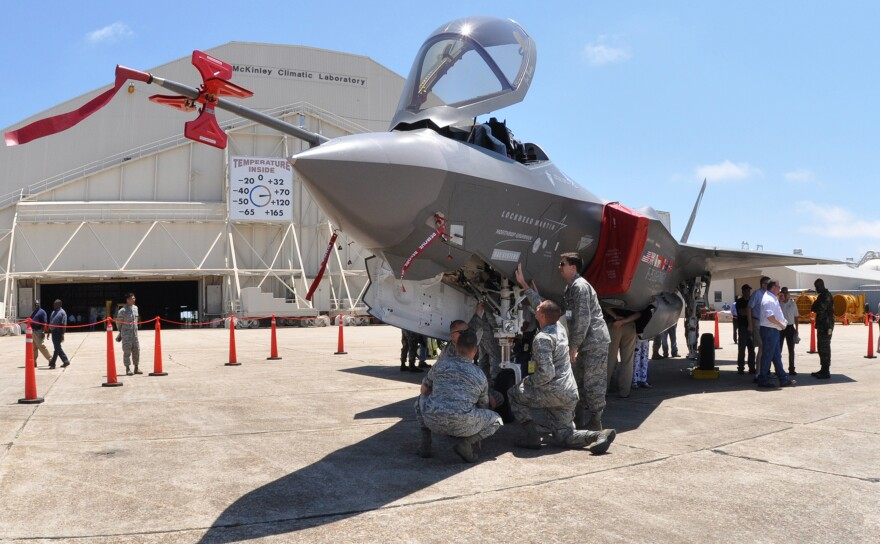 An F-35A prototype at Eglin Air Force Base in Florida.