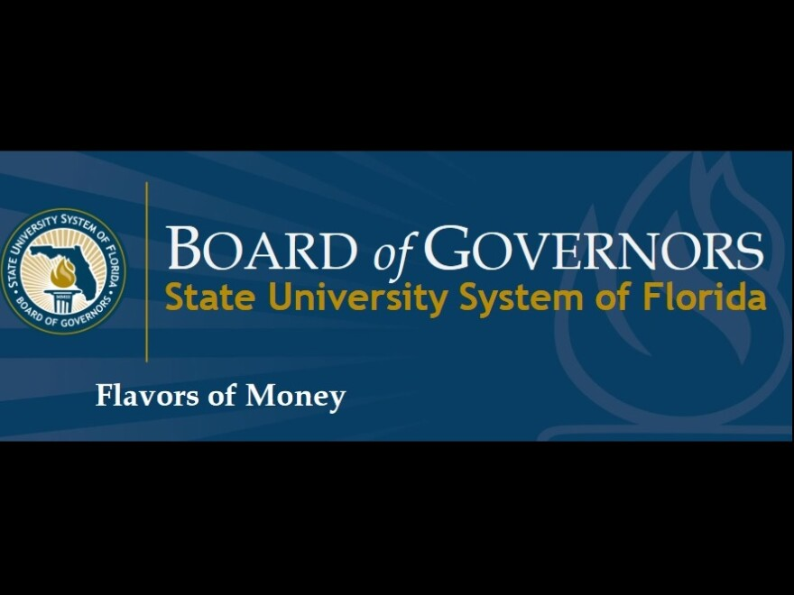 After multiple issues with how public universities handled funds, the Florida Board of Governors required trustees at all 12 public universities to take a financial training session called Flavors of Money.