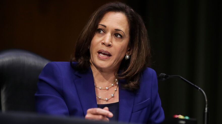 California Sen. Kamala Harris topped a recent survey asking respondents for their preferred running mate for Joe Biden.