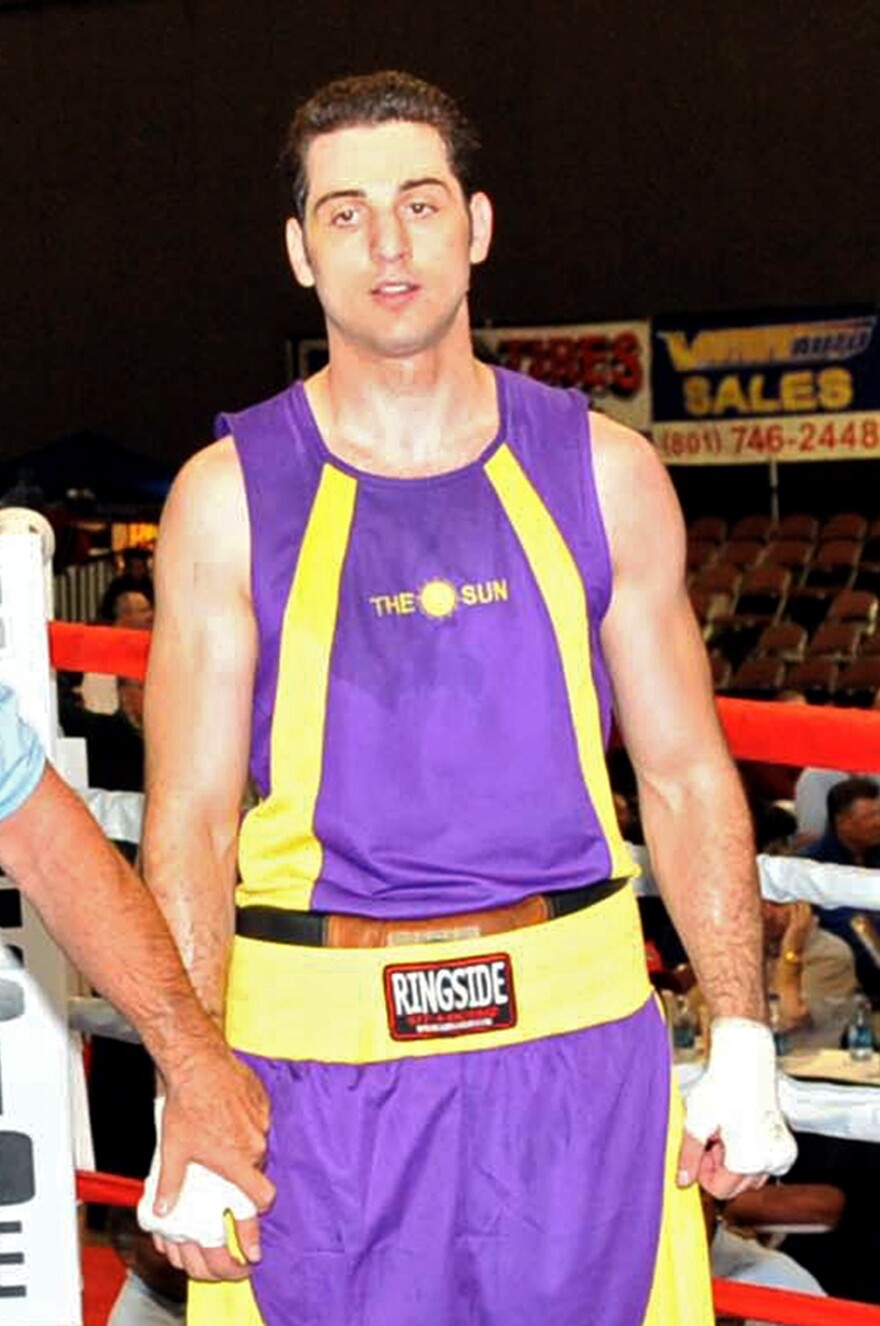 Tamerlan Tsarnaev waits for a decision in the 201-pound division boxing match during the 2009 Golden Gloves National Tournament of Champions in Salt Lake City, Utah. He died in a shootout with police after the Boston Marathon bombing two years ago.