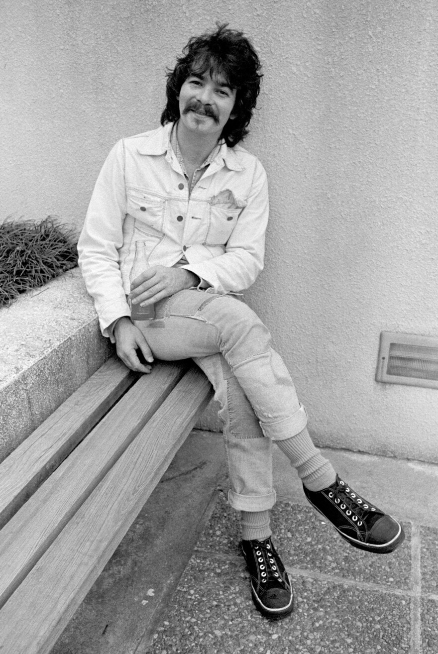 John Prine, hanging out at Georgia State College in 1975.