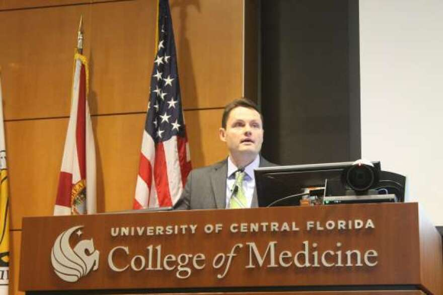 Justin Senior, deputy secretary for Medicaid for the Florida Agency for Health Care Administration, spoke in Orlando today.