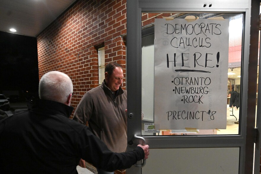 Caucus goers during last year's disastrous Iowa Democratic caucus. Democrats are now weighing whether the predominantly white, rural state should keep its prized place at the front of the presidential nominating process.