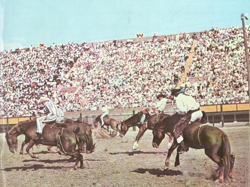 The cover of the 33rd annual Texas Prison Rodeo booklet, from 1954.