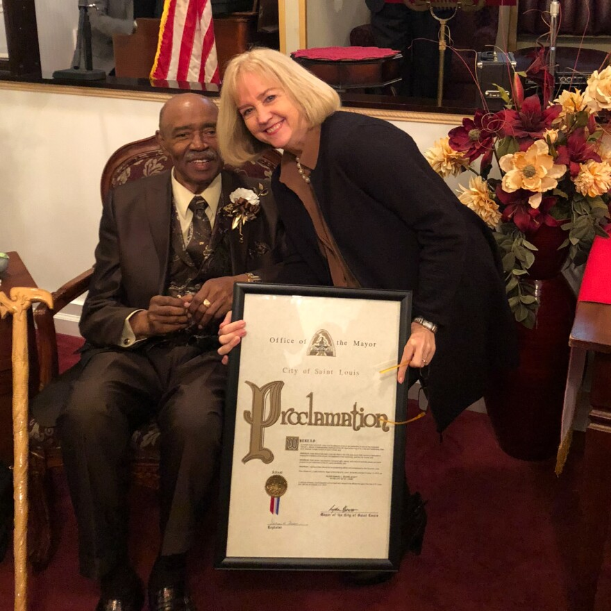 St. Louis Alderman Sam Moore, Ward 4, died Tuesday. He was 71. Mayor Lyda Krewson presented Moore with a proclamation declaring Oct. 13 as Elder Samuel L. Moore, III Day.