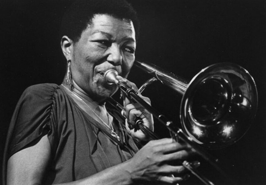 """Trombonist and arranger Melba Liston is one of the women featured in a documentary about female instrumentalists in jazz, """"The Girls in the Band."""""""