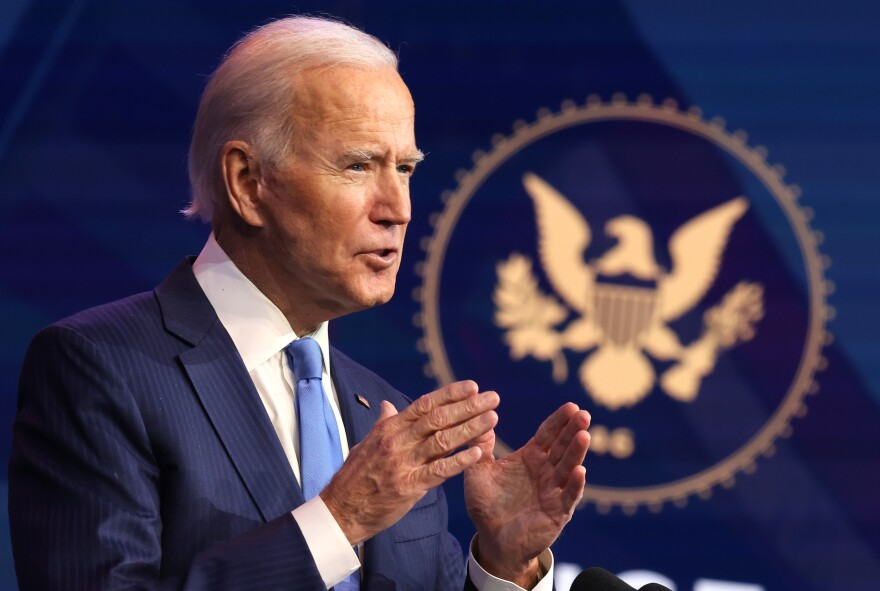 President-elect Joe Biden, pictured on Dec. 11, issued a statement on Thursday saying his transition team had been briefed on a major cyberattack on U.S. government networks.