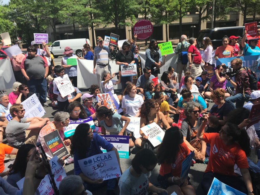 Protesters gathered Friday in Washington, New York City, Miami, Atlanta and other cities.