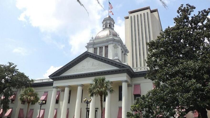 The Florida Capitol complex in Tallahassee is pictured