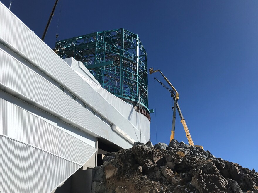 Large Synoptic Survey Telescope under construction on Cerro Pachón in Chile