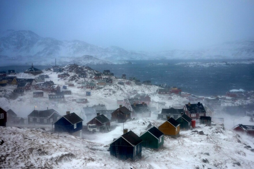A view of the East Greenlandic town of Tasiilaq.