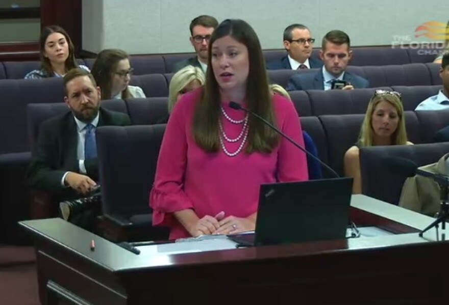 Florida Department of Juvenile Justice Secretary Christy Daly speaking to lawmakers Wednesday.