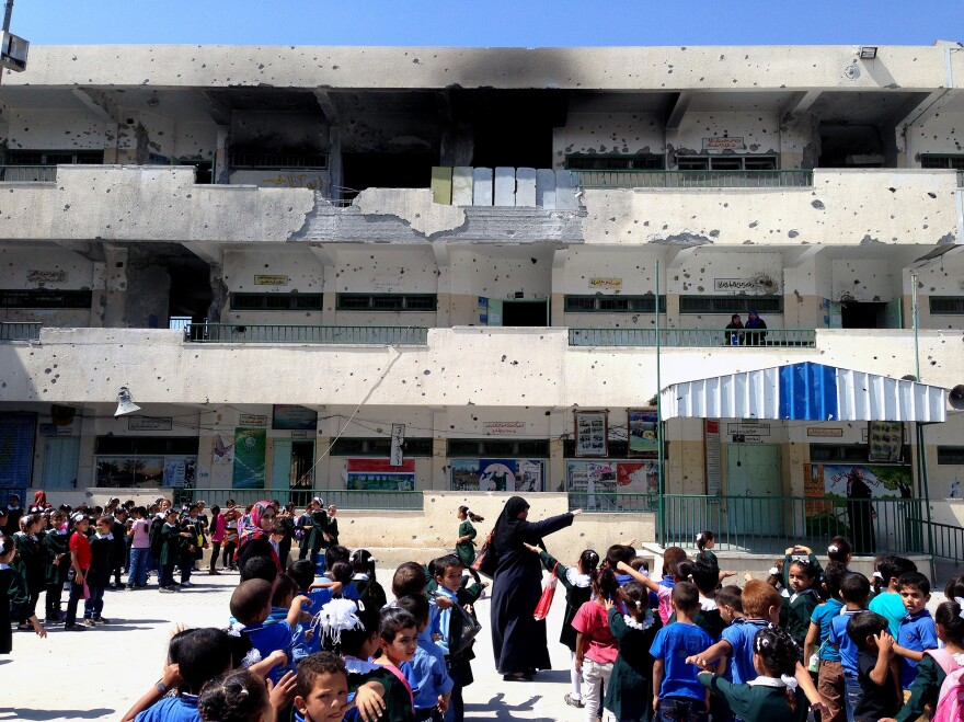 Classrooms across Gaza are crowded with as many as 50 or 60 students, principals say, as dozens of school buildings have been destroyed or damaged, or are still housing people who lost their homes.