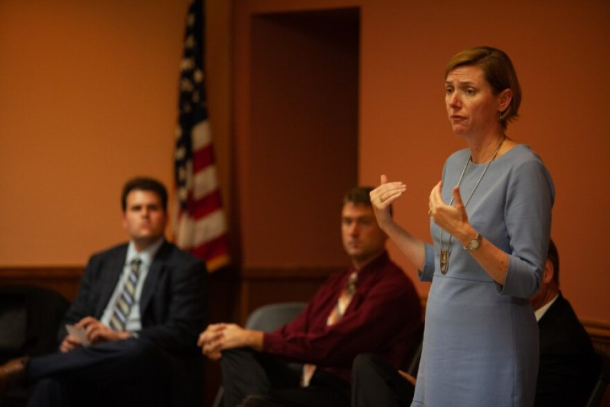 Candidate for West Virginia's 1st Congressional District Kendra Fershee attended a candidate forum in Grafton, West Virginia, on Oct. 16 to speak with local voters.