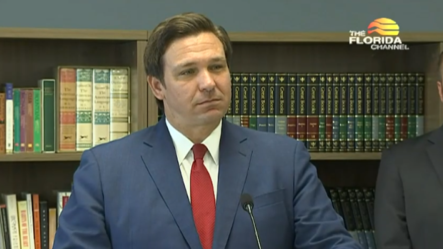 Governor Ron DeSantis held a media conference at the Jacksonville Classical Academy Tuesday to promote the opening of schools and provide a COVID-19 update.